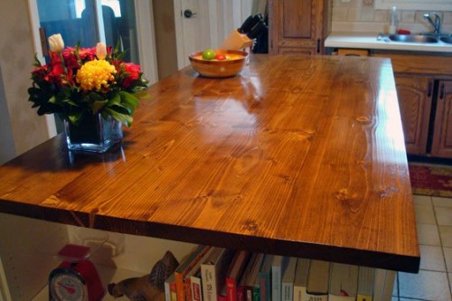 Best ideas about DIY Wood Plank Countertops . Save or Pin 12 DIY Wooden Kitchen Countertops To Make Shelterness Now.