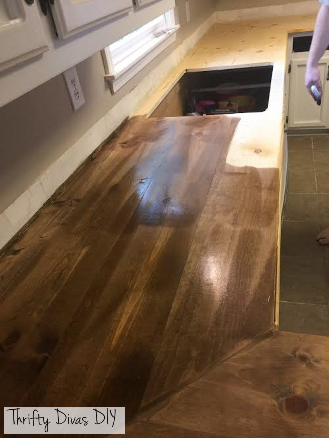 Best ideas about DIY Wood Plank Countertops . Save or Pin Thrifty Divas DIY Wide Plank Butcher Block Countertops Now.