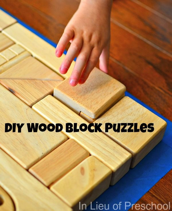 Best ideas about DIY Wood Puzzle . Save or Pin DIY wood block puzzles for kids put painters tape down Now.