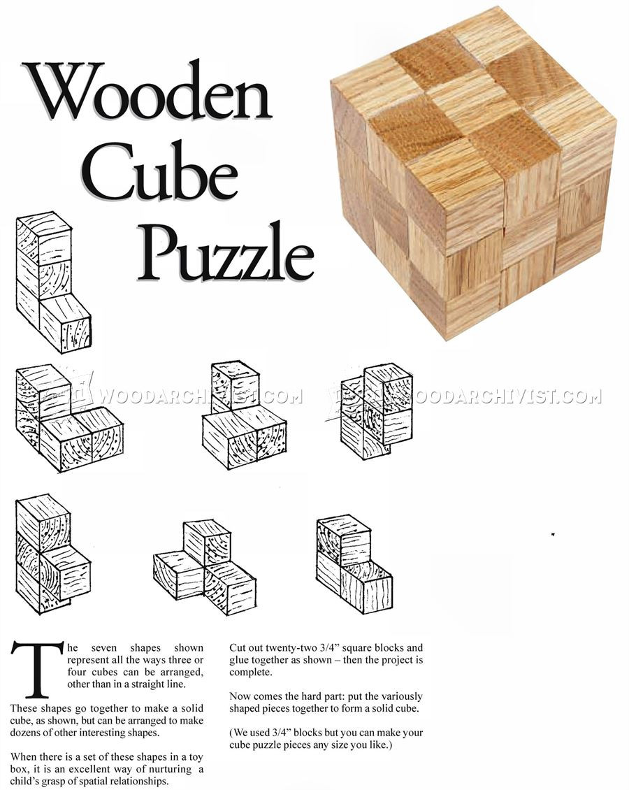 Best ideas about DIY Wood Puzzle . Save or Pin DIY Wooden Cube Puzzle • WoodArchivist Now.
