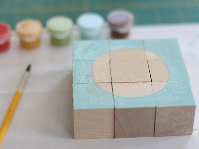 Best ideas about DIY Wood Puzzle . Save or Pin DIY Painted Block Puzzle Now.