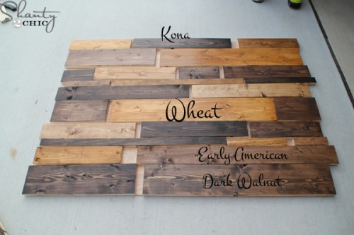 Best ideas about DIY Wood Stain Colors . Save or Pin DIY Planked Headboard Shanty 2 Chic Now.