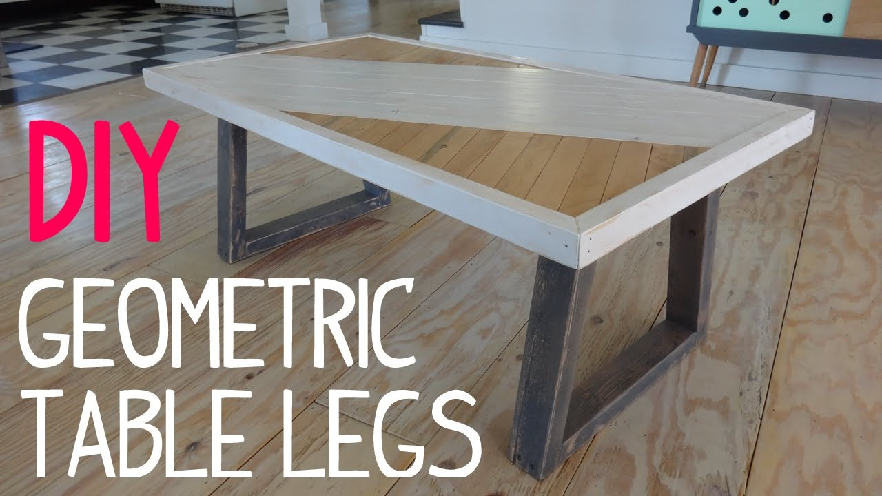 Best ideas about DIY Wood Table Legs . Save or Pin DIY Modern Geometric Table Legs Now.