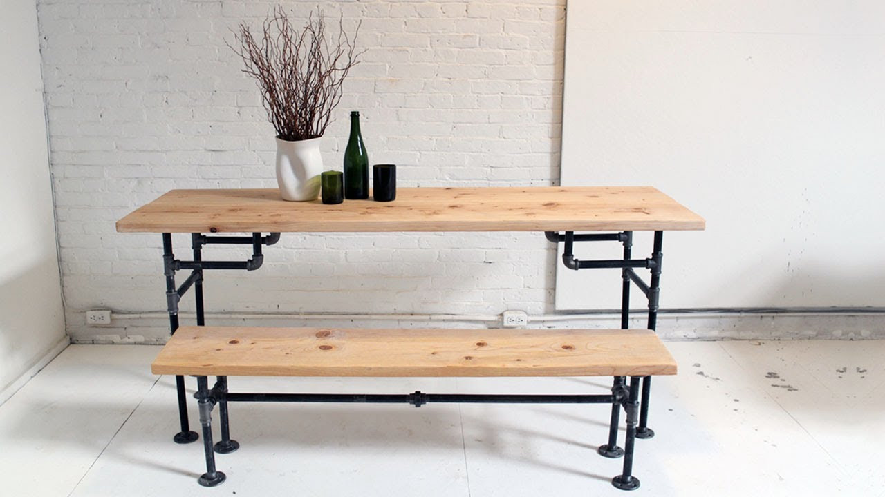 Best ideas about DIY Wood Table Legs . Save or Pin HomeMade Modern Episode 3 DIY Wood Iron Table Now.