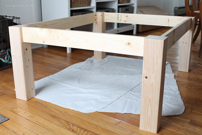 Best ideas about DIY Wood Table Legs . Save or Pin DIY Farmhouse Coffee Table Love Grows Wild Now.