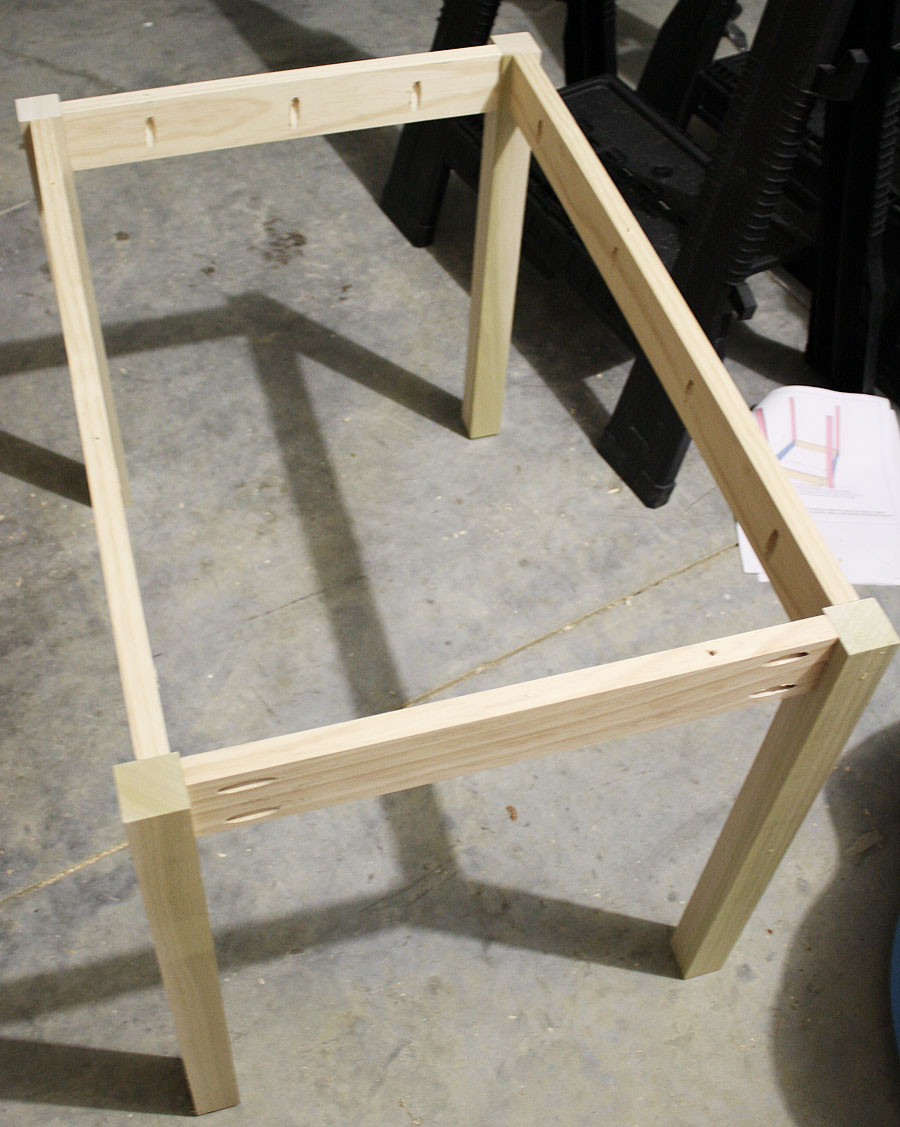 Best ideas about DIY Wood Table Legs . Save or Pin How to build a DIY Kids Play Table Now.