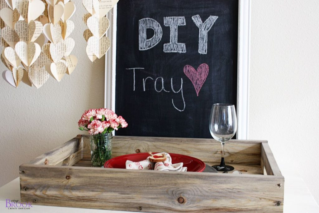 Best ideas about DIY Wood Trays . Save or Pin Aged Rustic Wood Tray Now.