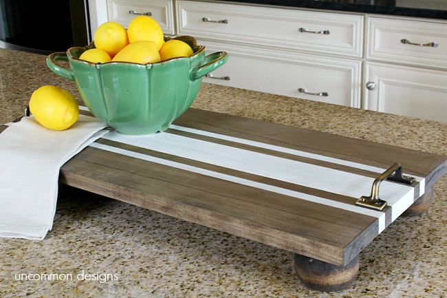 Best ideas about DIY Wood Trays . Save or Pin DIY Ticking Stripe Wooden Server Tray Americana Decor Now.