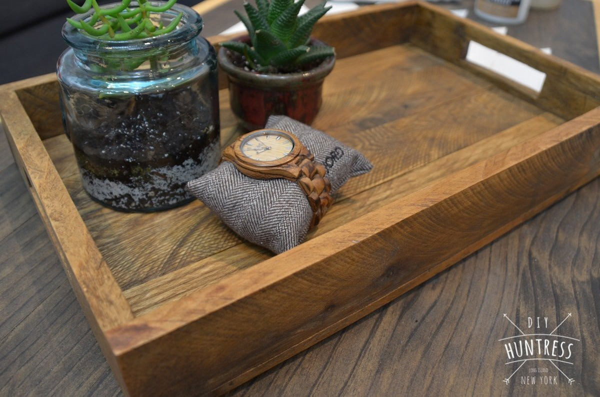 Best ideas about DIY Wood Trays . Save or Pin DIY Reclaimed Wood Tray West Elm Knockoff DIY Huntress Now.