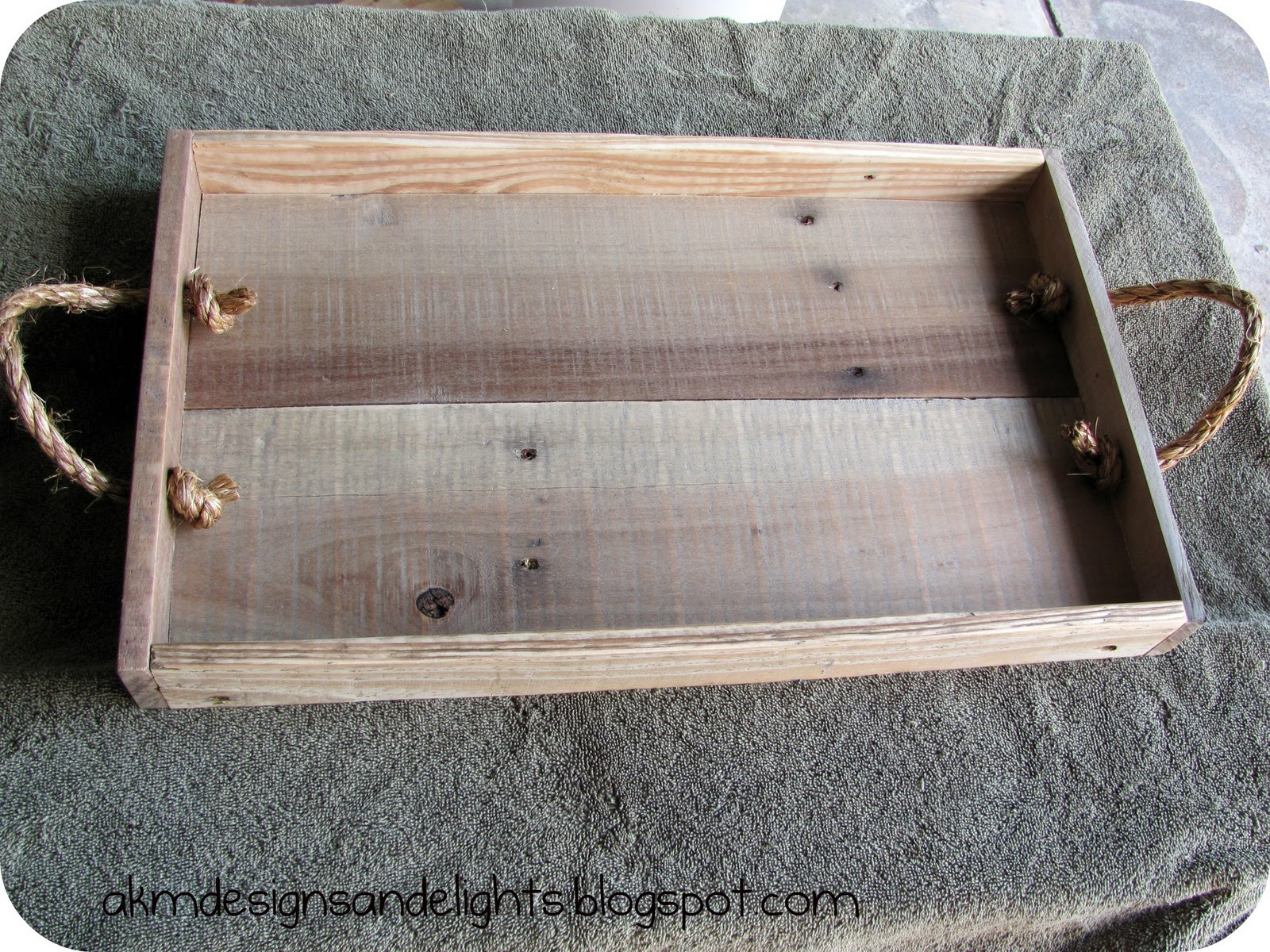 Best ideas about DIY Wood Trays . Save or Pin AKM designs and delights DIY Pallet Wood Tray Tutorial Now.