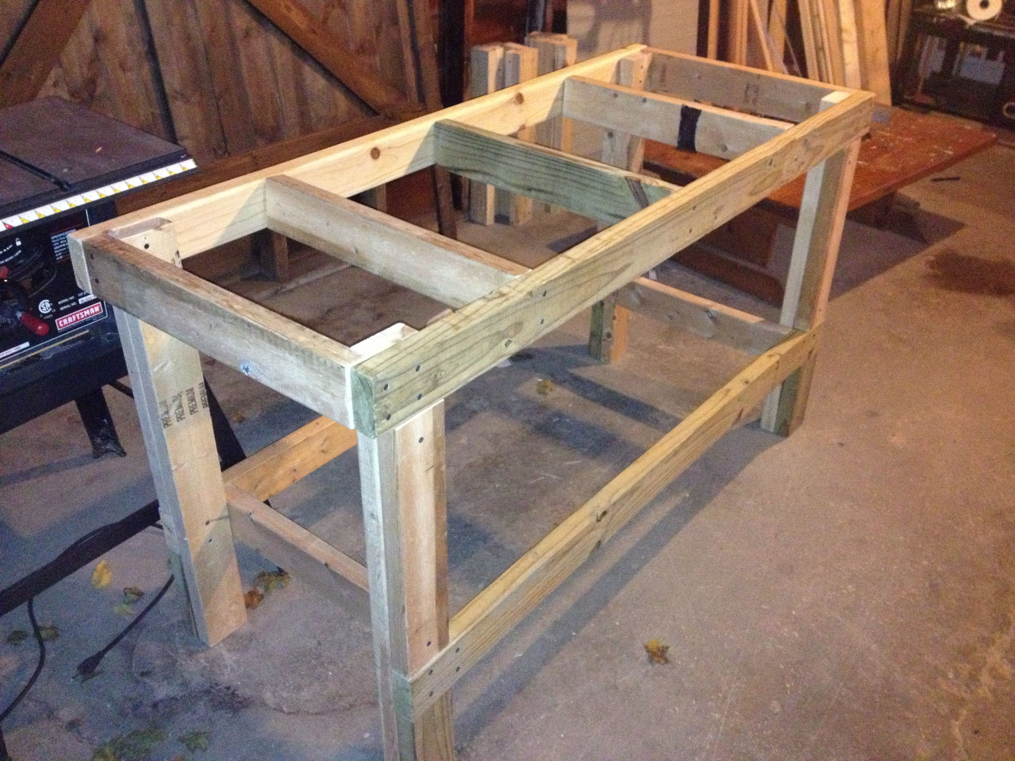 Best ideas about DIY Wood Work . Save or Pin Quick & Easy Workbench Workbench in 2019 Now.