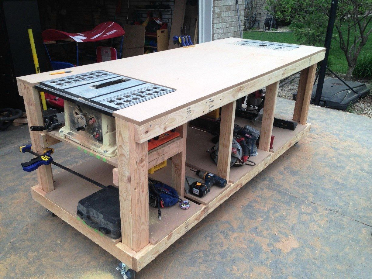 Best ideas about DIY Wood Work . Save or Pin garage workbench plans pdf Now.
