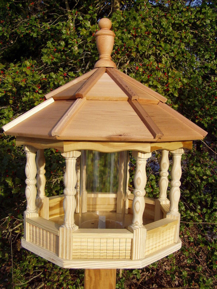 Best ideas about DIY Wooden Bird Feeder . Save or Pin Spindle Gazebo Bird Feeder Wood Amish Homemade Now.