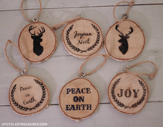 Best ideas about DIY Wooden Christmas Ornaments . Save or Pin 40 DIY Homemade Christmas Ornaments To Decorate the Tree Now.