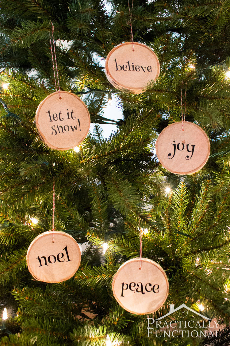 Best ideas about DIY Wooden Christmas Ornaments . Save or Pin DIY Wood Slice Christmas Ornaments Now.
