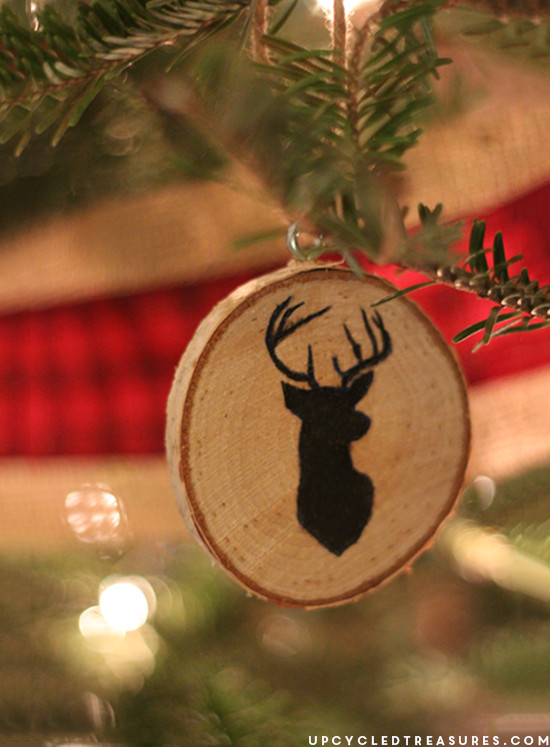 Best ideas about DIY Wooden Christmas Ornaments . Save or Pin DIY Wood Slice Christmas Ornaments Upcycled Treasures Now.
