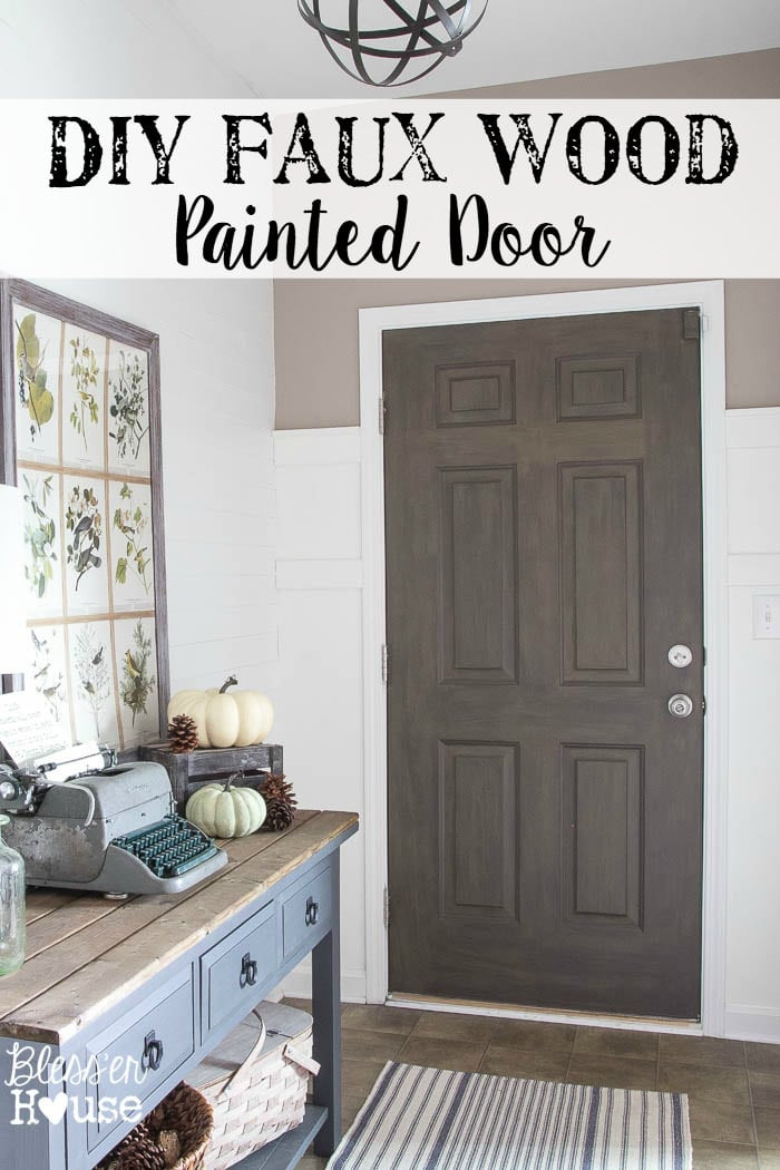 Best ideas about DIY Wooden Doors . Save or Pin DIY Faux Wood Painted Door Now.