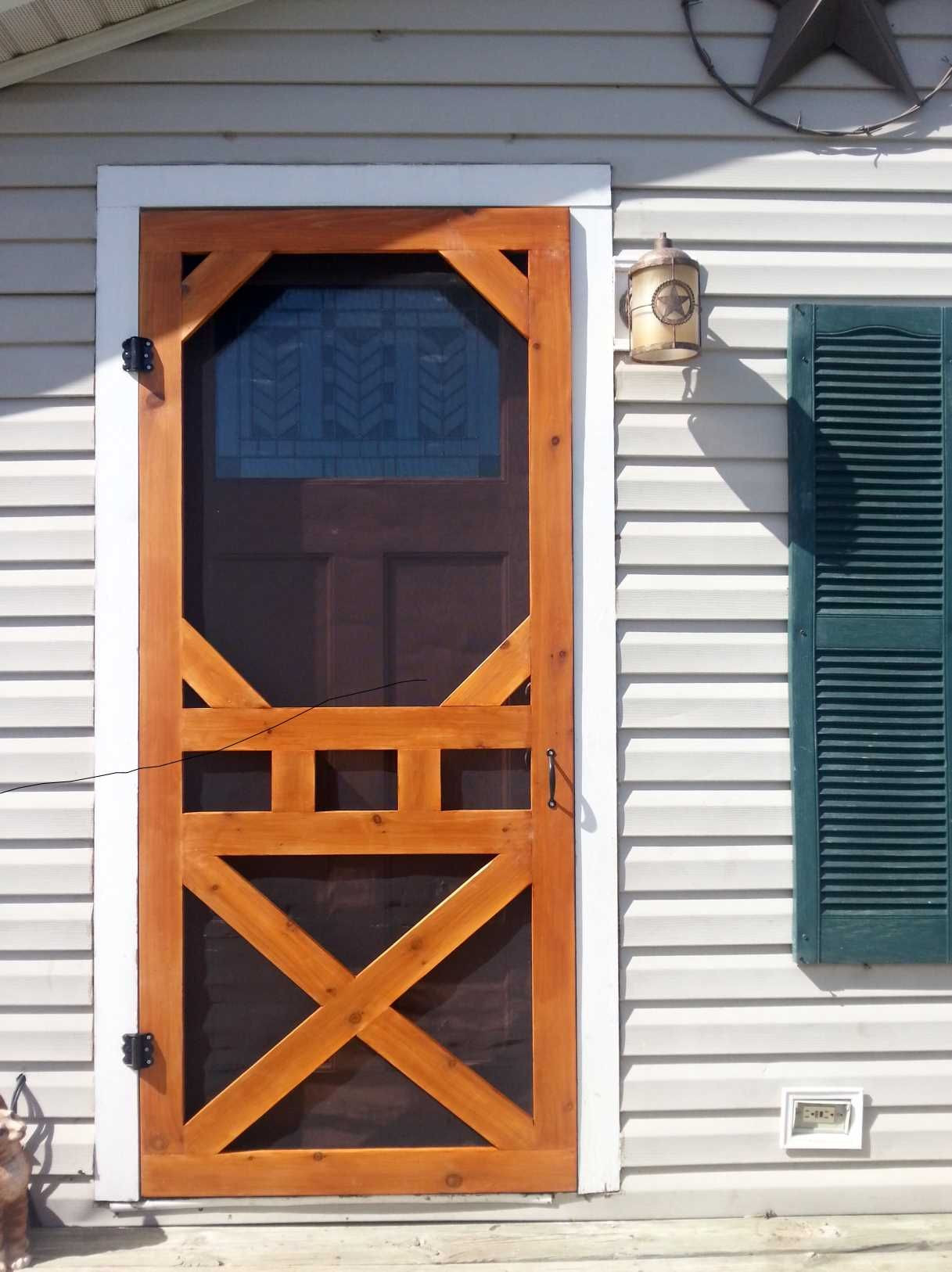 """Best ideas about DIY Wooden Doors . Save or Pin Diy screen door """"aww love me some fresh air"""" Now."""