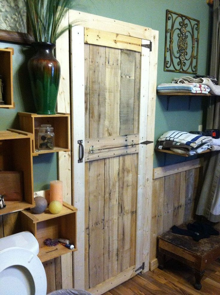 Best ideas about DIY Wooden Doors . Save or Pin Simple pallet door Upcycling Ideas Now.