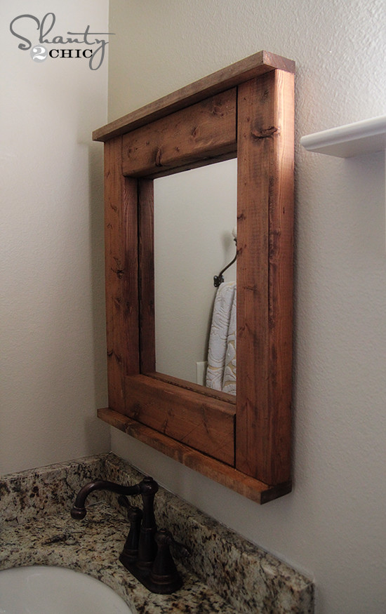 Best ideas about DIY Wooden Frames . Save or Pin Wood Mirror DIY Shanty 2 Chic Now.