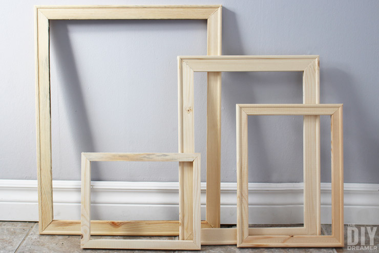 Best ideas about DIY Wooden Frames . Save or Pin How to Make Cheap Wood Frames the Quick and Easy DIY Way Now.