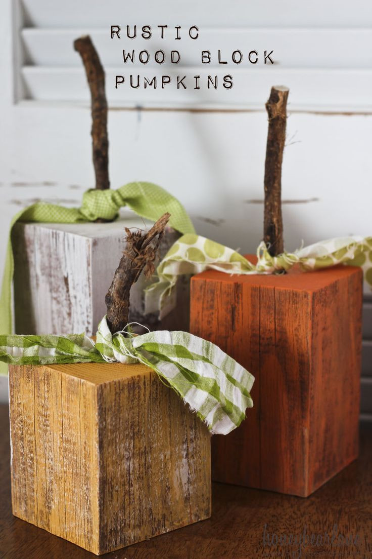 Best ideas about DIY Wooden Ideas . Save or Pin Rustic Wood Pumpkins The Best Fall Ideas Now.