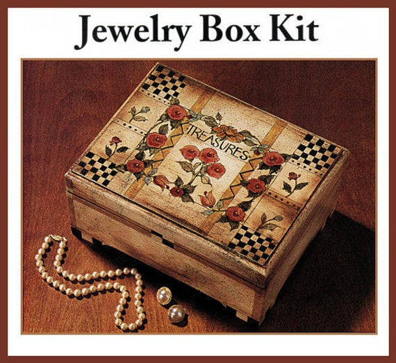 Best ideas about DIY Wooden Jewellery Box . Save or Pin Primitive Folk Art DIY Wooden Jewelry Box Kit with Box Now.
