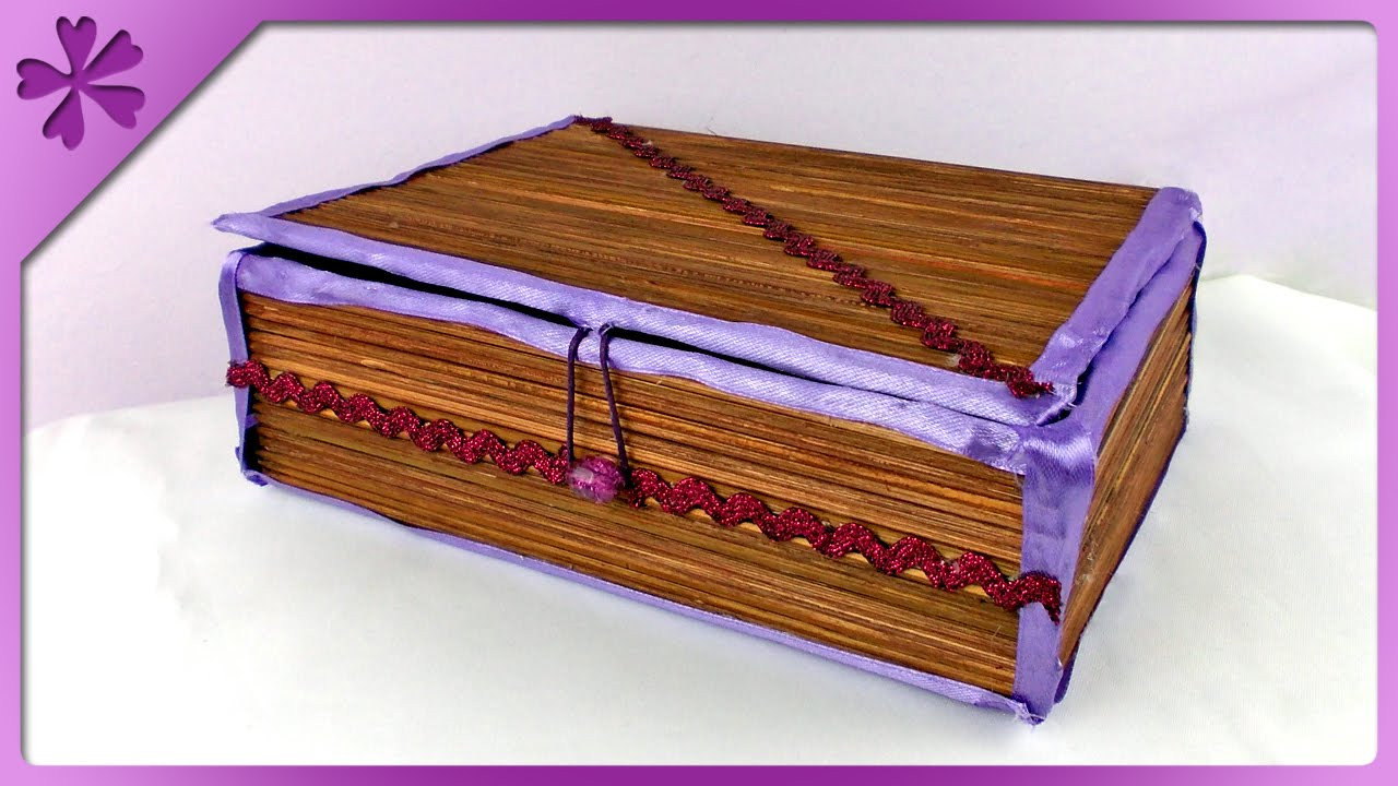 Best ideas about DIY Wooden Jewellery Box . Save or Pin DIY Wooden skewers jewelry box ENG Subtitles Speed up Now.