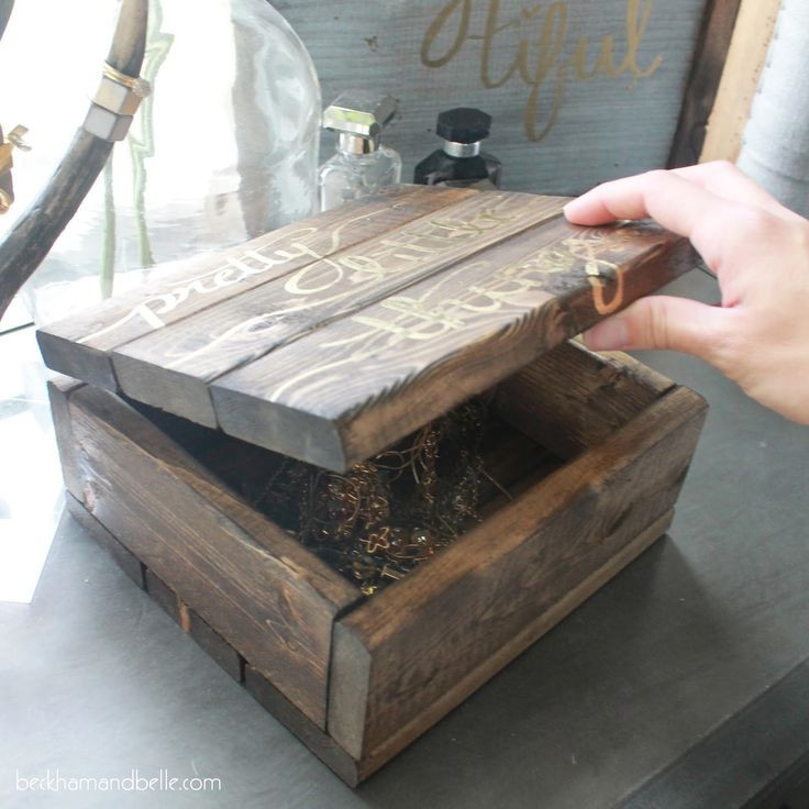 Best ideas about DIY Wooden Jewellery Box . Save or Pin 25 best ideas about Diy wooden jewelry box on Pinterest Now.