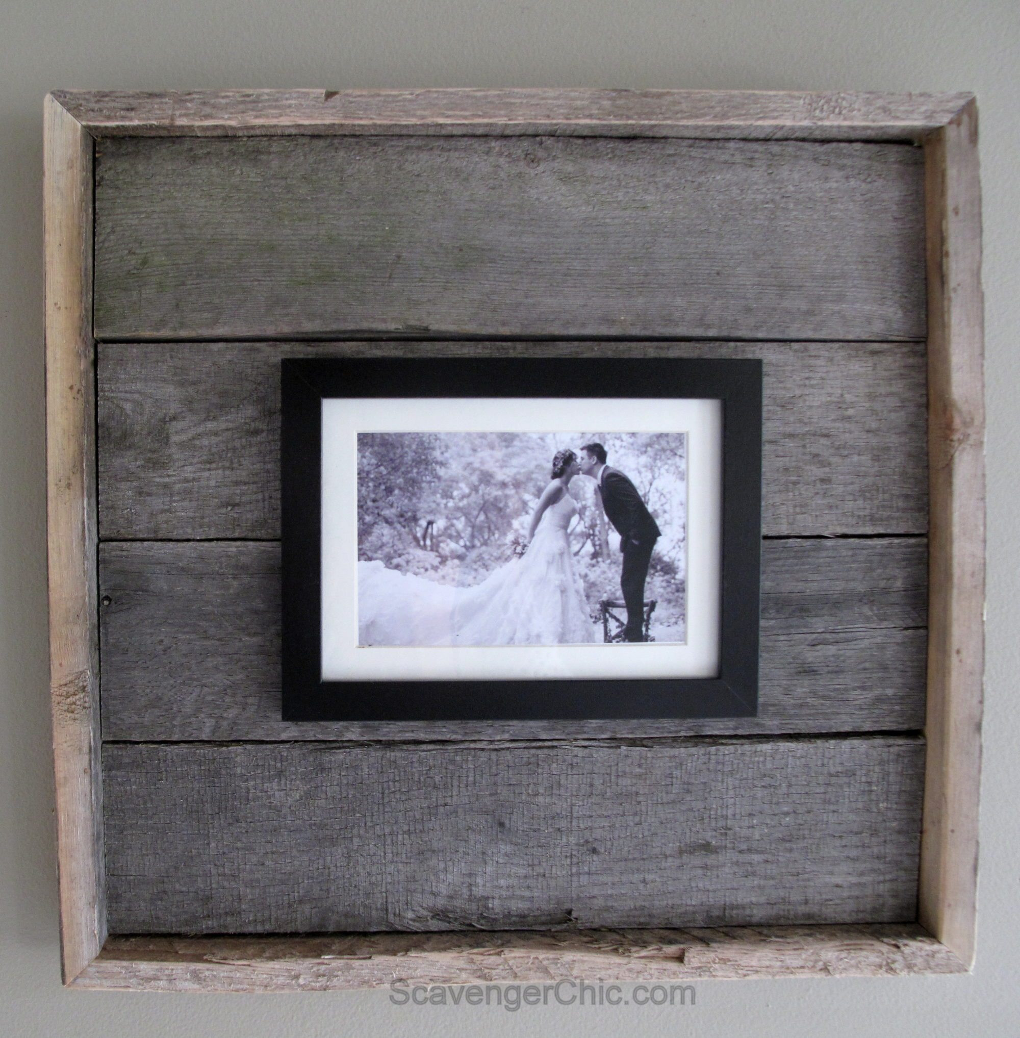 Best ideas about DIY Wooden Picture Frames . Save or Pin Easy Pallet Wood Frame My Repurposed Life Now.