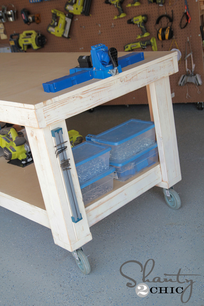 Best ideas about DIY Work Bench Plans . Save or Pin New Year New Workbench Baby Shanty 2 Chic Now.