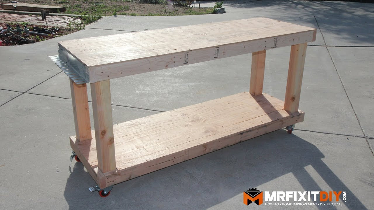 Best ideas about DIY Work Bench Plans . Save or Pin DIY BUDGET FRIENDLY WORKBENCH FREE PLANS Now.