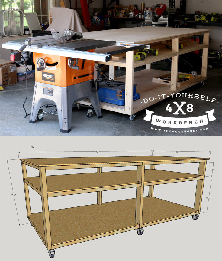 Best ideas about DIY Work Bench Plans . Save or Pin DIY Workbench Now.