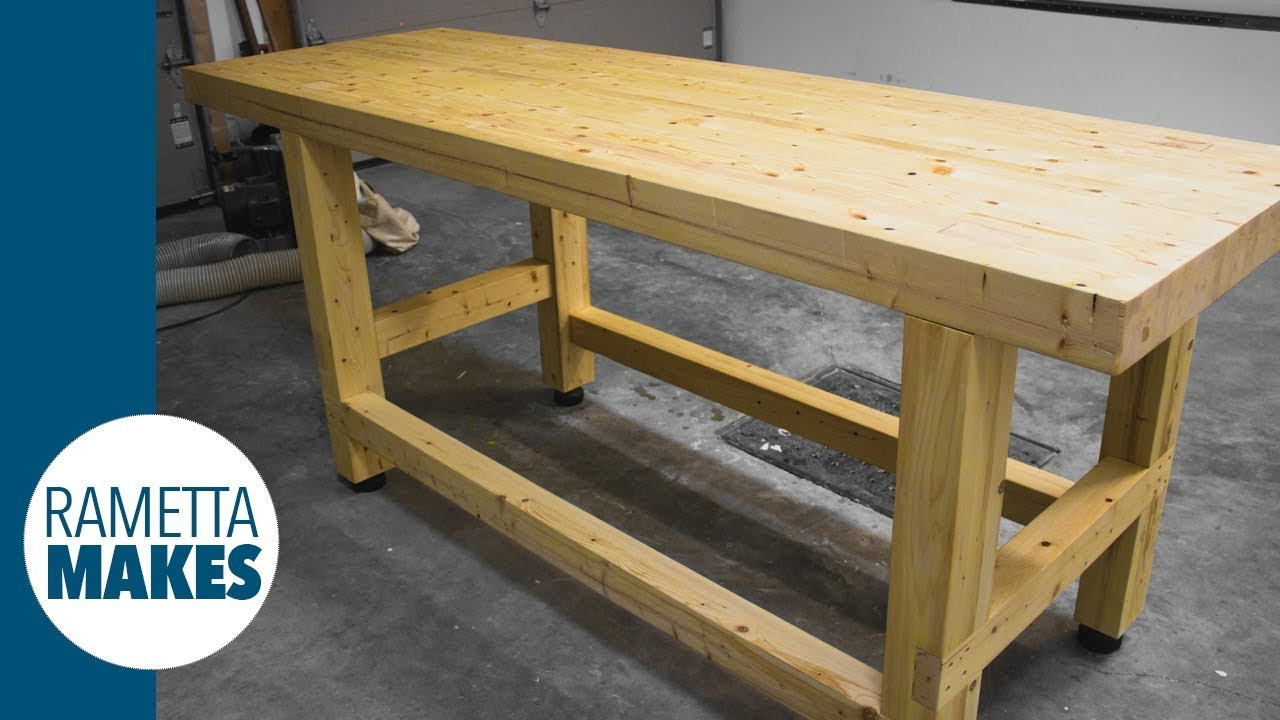 Best ideas about DIY Work Bench Plans . Save or Pin How to Build a 2x4 Workbench with Levelling Feet DIY Now.