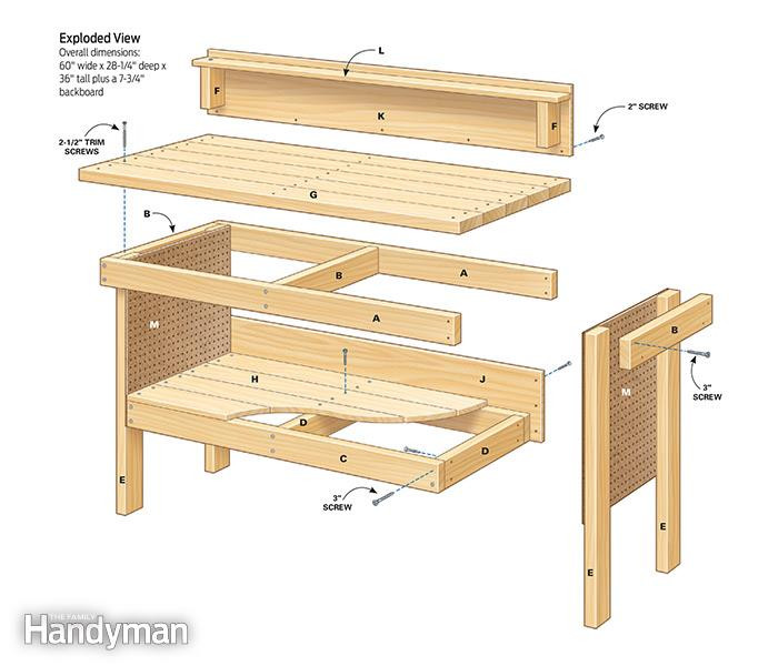 Best ideas about DIY Work Bench Plans . Save or Pin Classic DIY Workbench Plans Now.