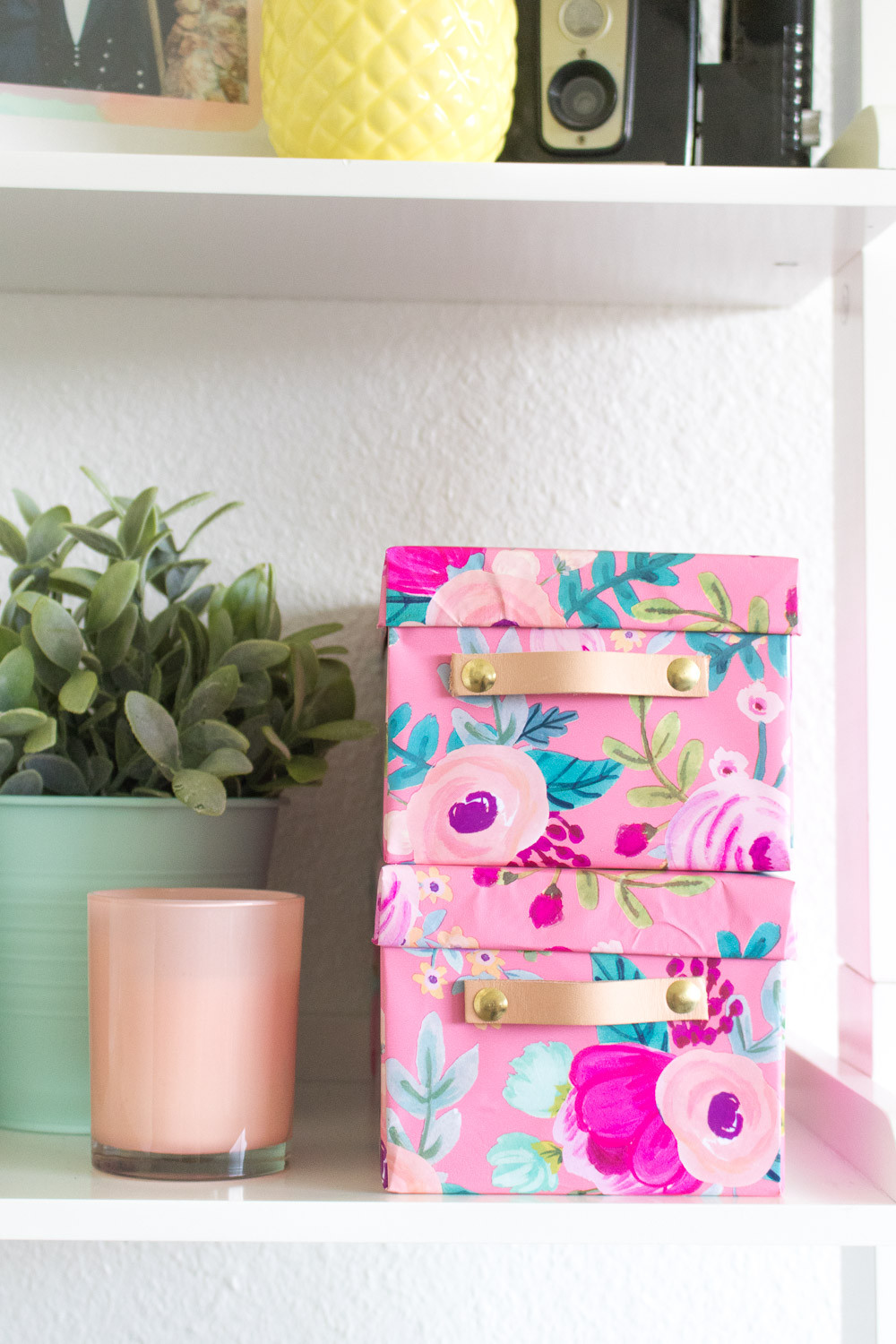Best ideas about DIY Wrapping Paper . Save or Pin DIY Wrapping Paper Covered Boxes with Leather Handles Now.