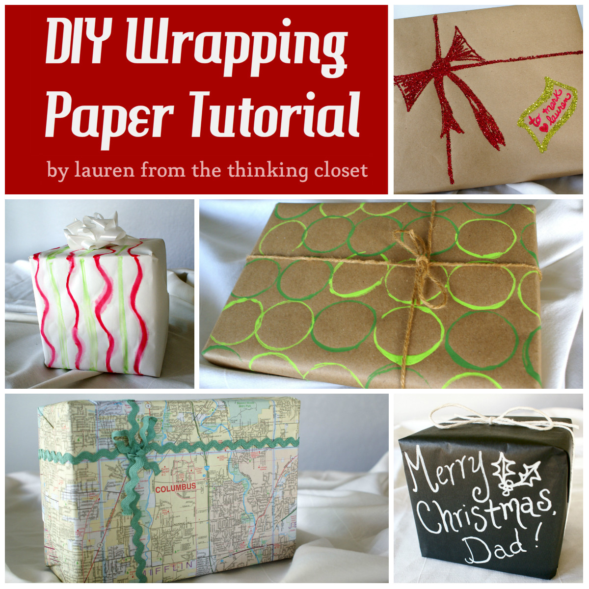 Best ideas about DIY Wrapping Paper . Save or Pin DIY Wrapping Paper Tutorial the thinking closet Now.