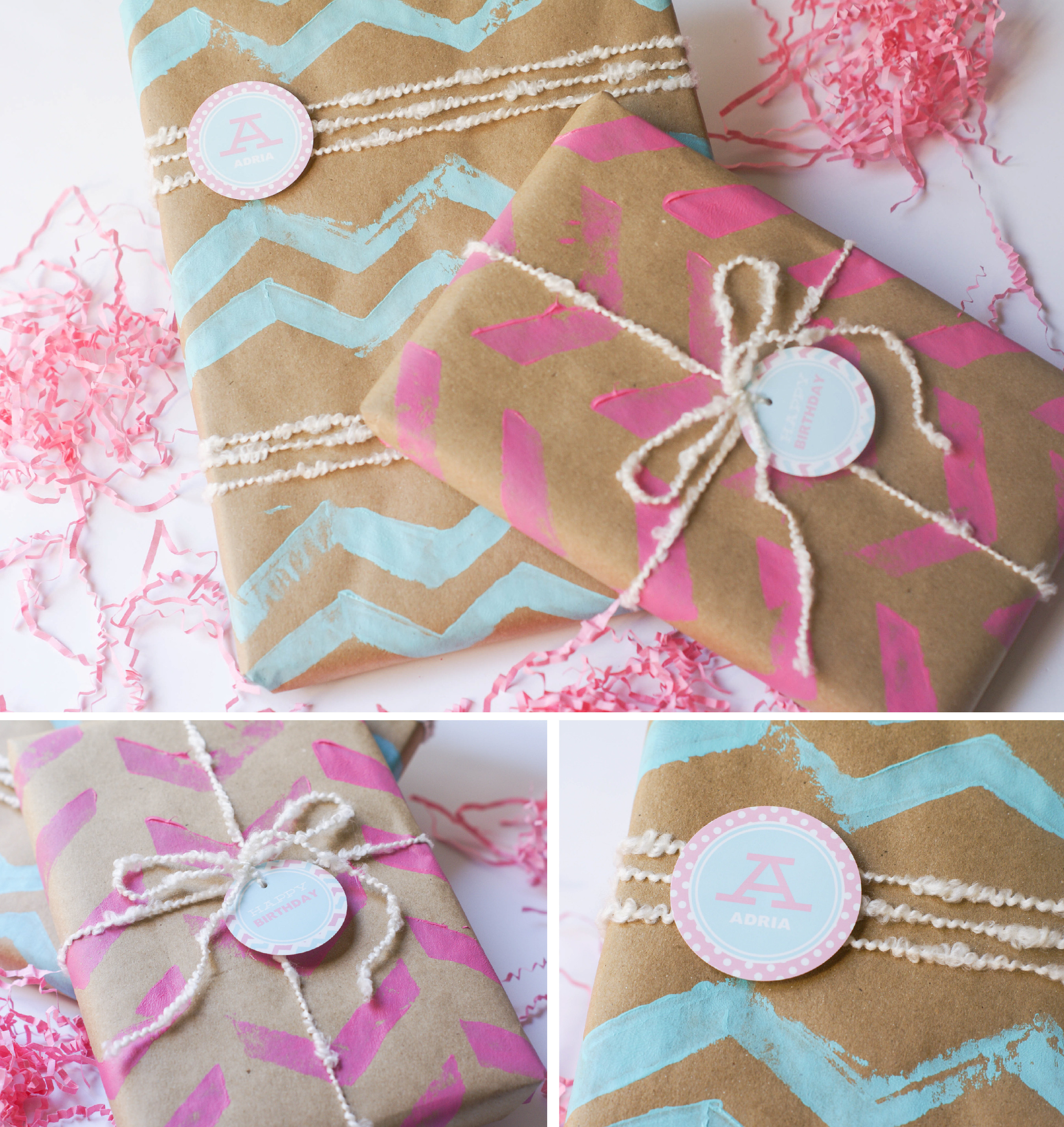 Best ideas about DIY Wrapping Paper . Save or Pin Ruff Draft DIY Chevron Wrapping Paper and Chevron Stamp Now.