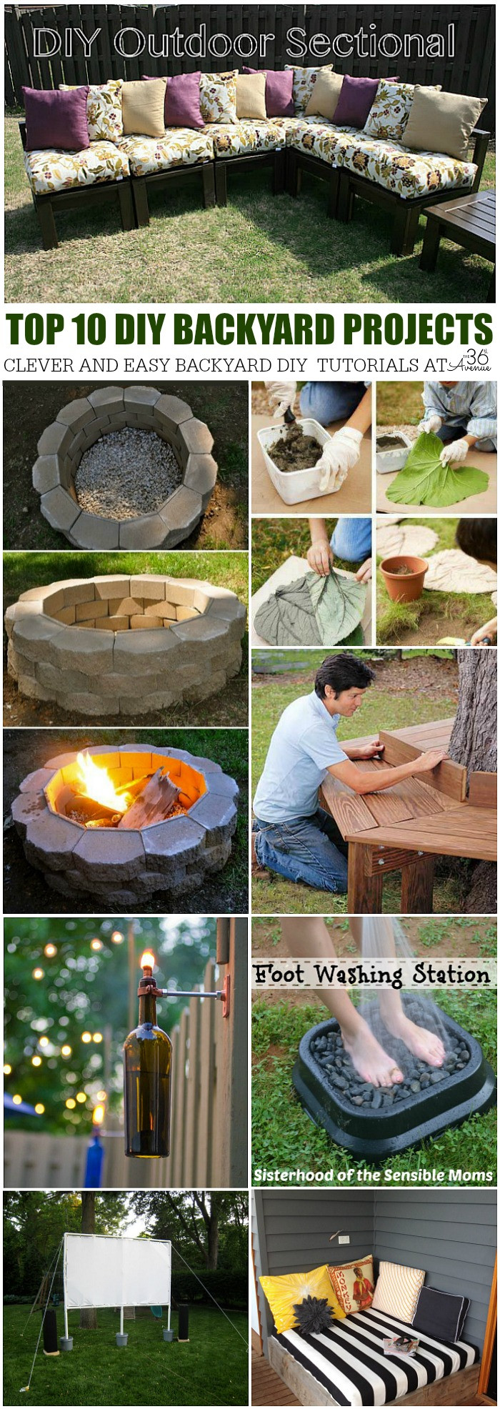 Best ideas about DIY Yard Projects . Save or Pin The 36th AVENUE DIY Home Projects – Backyard Ideas Now.