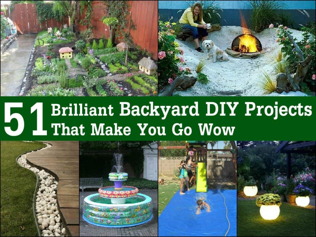Best ideas about DIY Yard Projects . Save or Pin 51 Brilliant Backyard DIY Projects That Make You Go Wow Now.