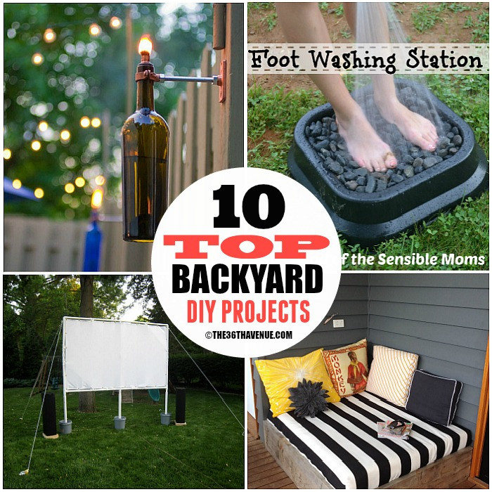 Best ideas about DIY Yard Projects . Save or Pin DIY Home Projects Backyard Ideas The 36th AVENUE Now.