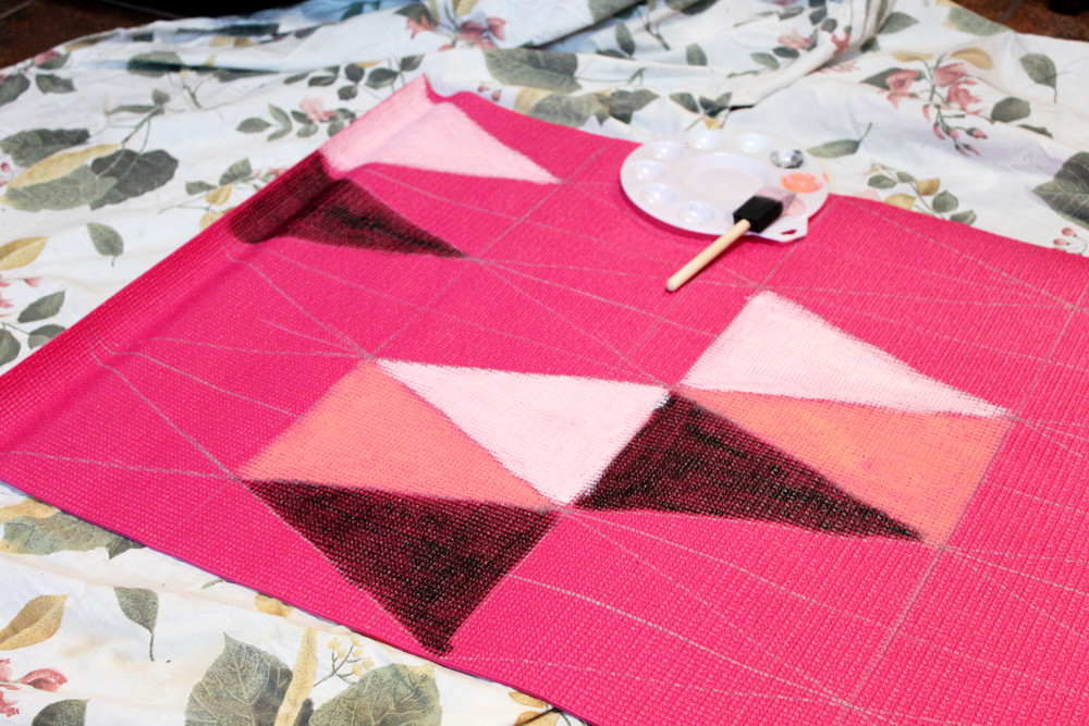 Best ideas about DIY Yoga Mat . Save or Pin DIY Painted Yoga Mat – How To Now.