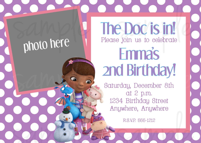 Best ideas about Doc Mcstuffins Birthday Invitations . Save or Pin Doc McStuffins Birthday Invitation Now.