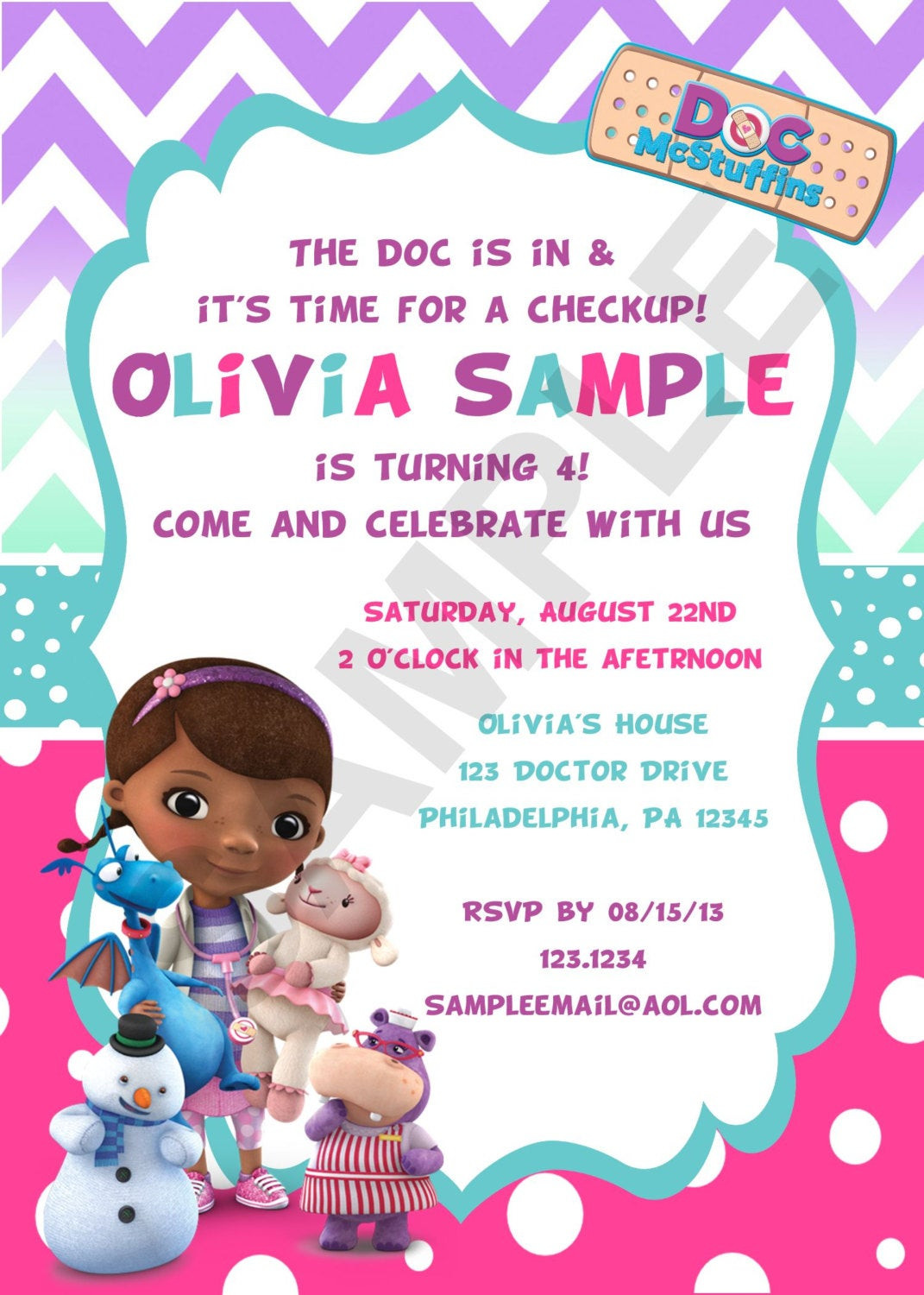 Best ideas about Doc Mcstuffins Birthday Invitations . Save or Pin Cutie Tootie on Etsy Now.