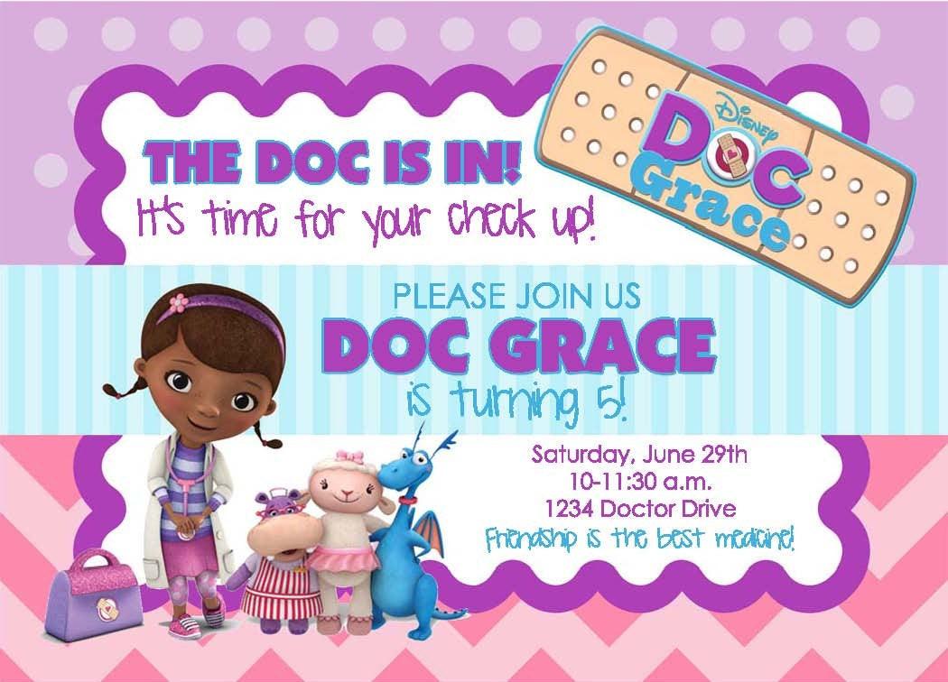 Best ideas about Doc Mcstuffins Birthday Invitations . Save or Pin Doc McStuffins Birthday Party Invitation Now.