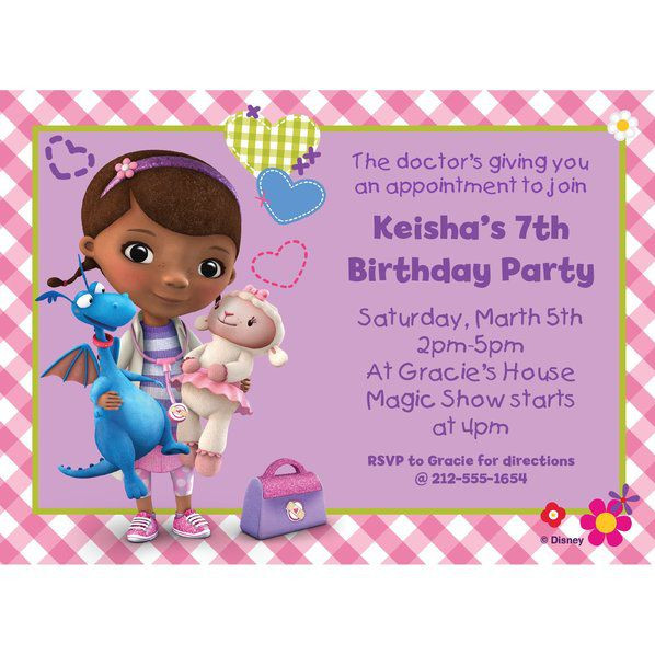 Best ideas about Doc Mcstuffins Birthday Invitations . Save or Pin Doc McStuffins Personalized Invitation Birthday Custom Now.