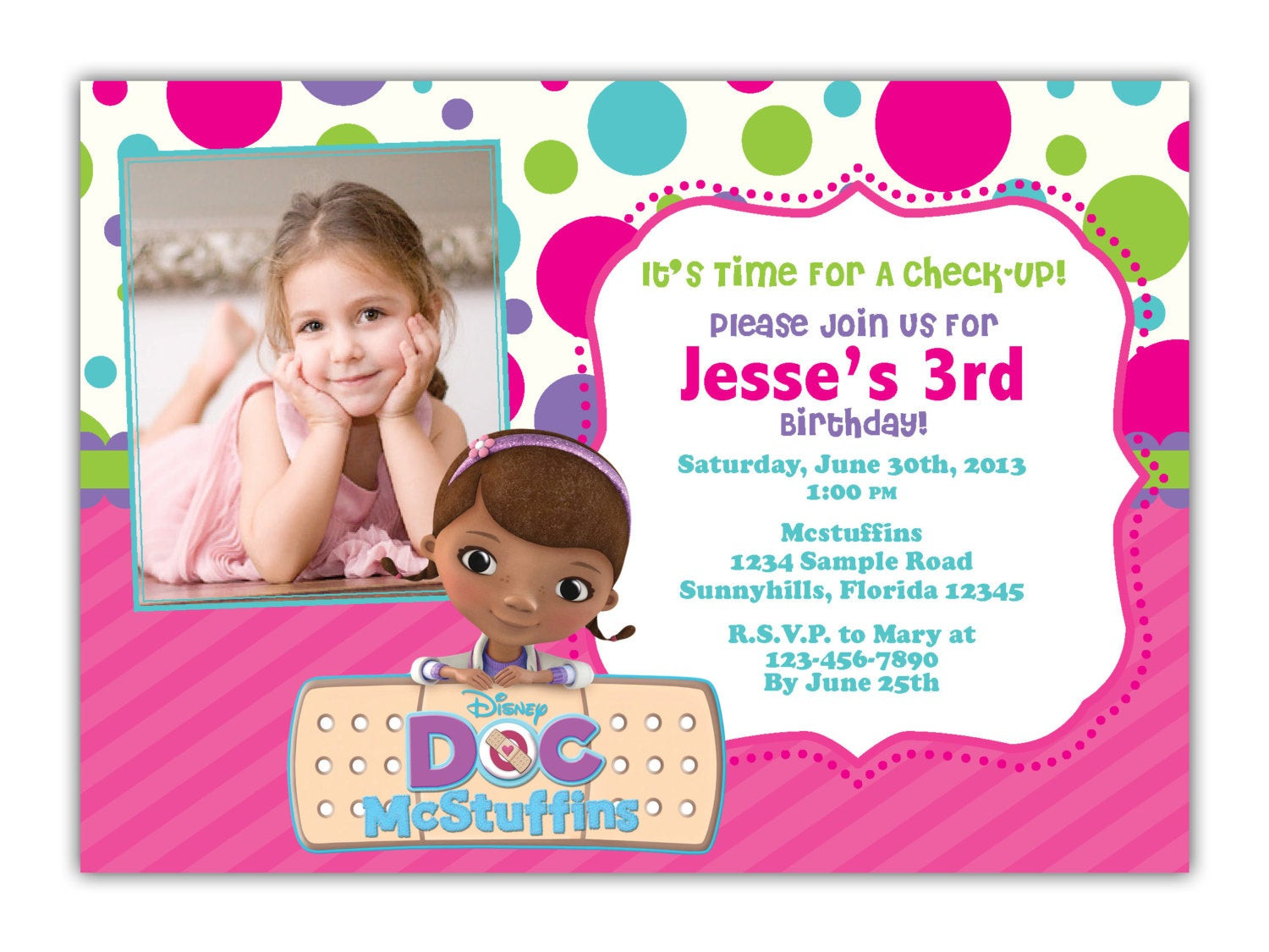 Best ideas about Doc Mcstuffins Birthday Invitations . Save or Pin Etsy Your place to and sell all things handmade Now.