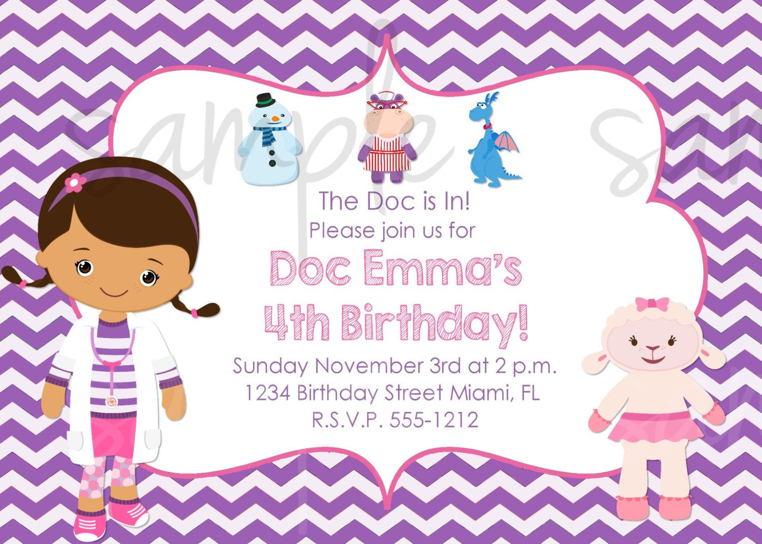 Best ideas about Doc Mcstuffins Birthday Invitations . Save or Pin Doc McStuffins Birthday Invitation Inspired Now.