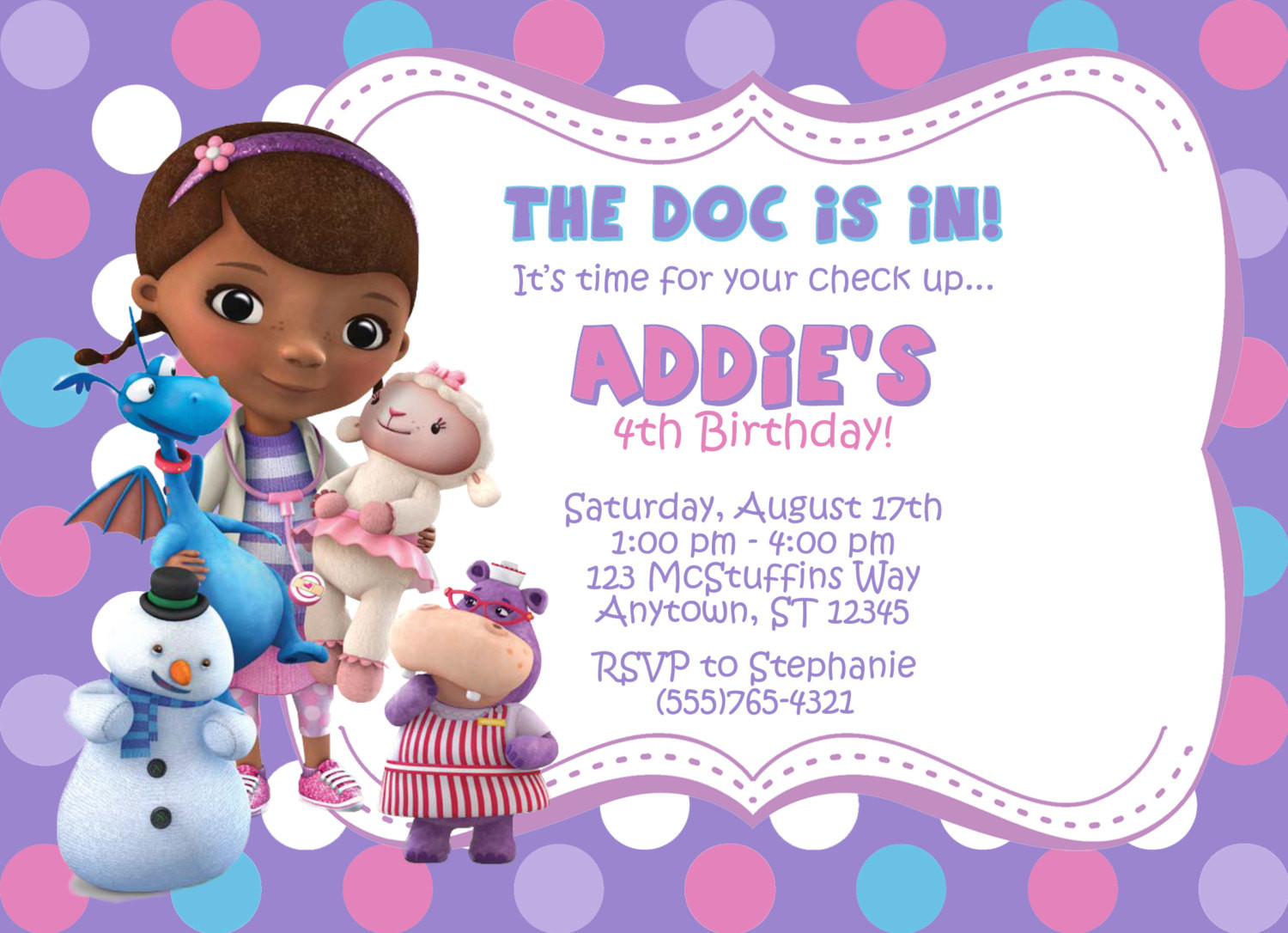 Best ideas about Doc Mcstuffins Birthday Invitations . Save or Pin Doc Mcstuffins Invitations Template Free Now.