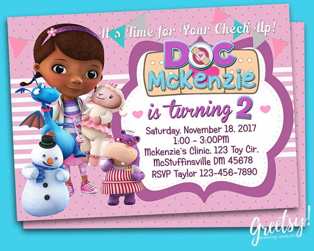 Best ideas about Doc Mcstuffins Birthday Invitations . Save or Pin Doc McStuffins Invitation Doc McStuffins Birthday Doc Now.